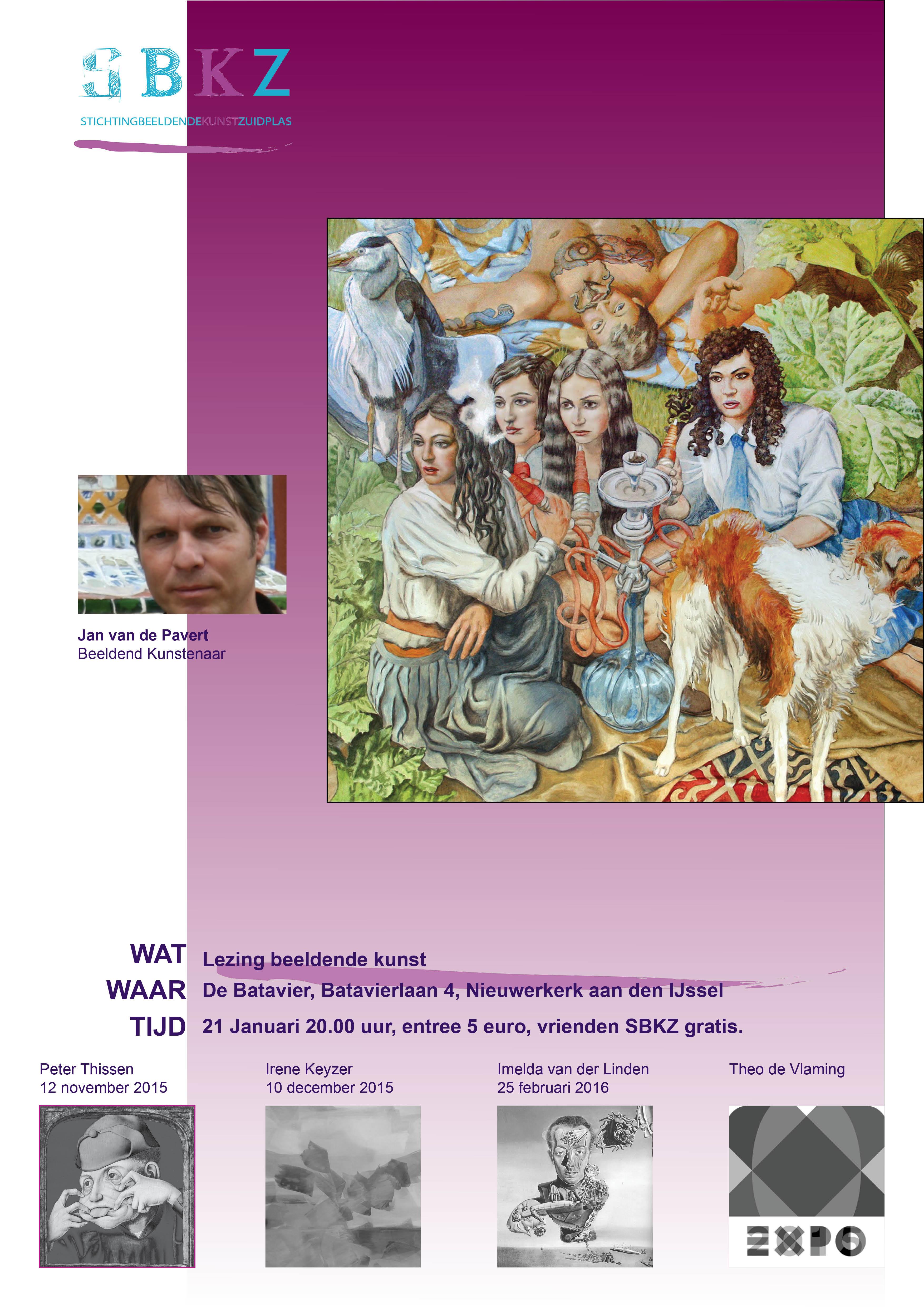 poster  lezingen Jan van de Pavert 2015-2016