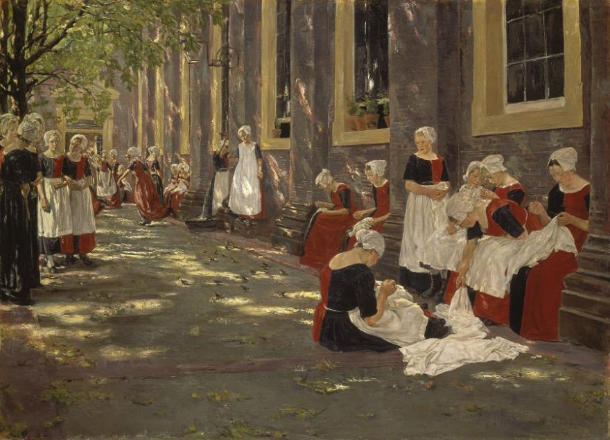 Max Liebermann, Free period in the Amsterdam orphanage, 1881-1882, small
